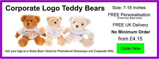 Promotional Teddy Bears and Corporate Gifts from £3.90