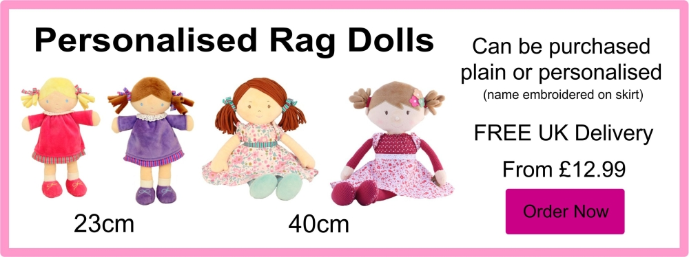 Personalised Embroidered Rag Dolls From £11.99
