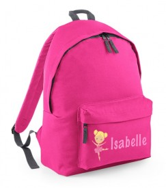 Ballerina Any Name Childs Rucksack