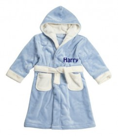 Any Name (Left Chest) Boy Children's Bathrobe