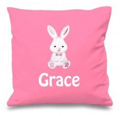 Bunny Rabbit Any Name Embroidered Cushion