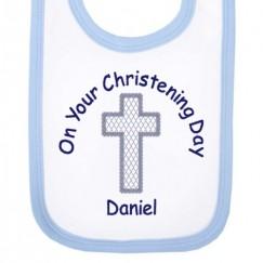On Your Christening Day Boy Baby Bib