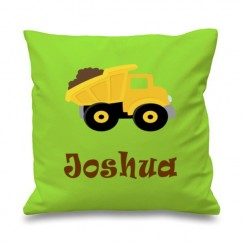 Dump Truck Any Name Printed Cushion