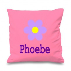 Flower Any Name Printed Cushion