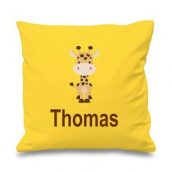 Giraffe Any Name Printed Cushion