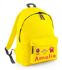 Girl Monsters Any Name Childs Rucksack