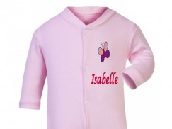 Any Name Butterfly Baby Sleepsuit