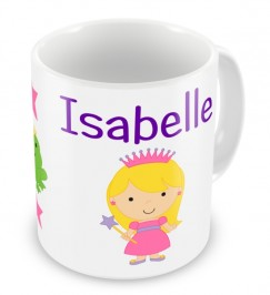 Choice of Princess + Name Mug