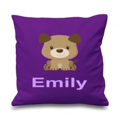 Puppy Dog Any Name Printed Cushion