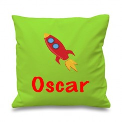 Rocket Any Name Printed Cushion
