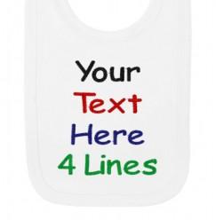 4 Lines Any Text Baby Bib