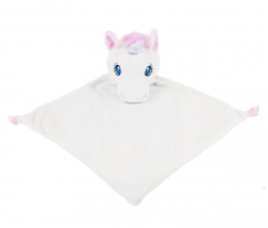 White Unicorn Comfort Blanket