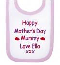 Happy Mother's Day Text Baby Bib