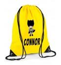 Bat Boy Any Name Drawstring Bag