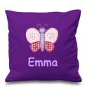 Butterfly Any Name Embroidered Cushion