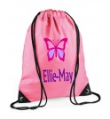 Butterfly Any Name Drawstring Bag