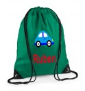 Car Any Name Drawstring Bag