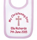 My Christening Day Name + Date Girl Baby Bib