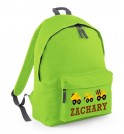 Construction Vehicles Any Name Childs Rucksack