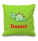 Dinosaur Any Name Embroidered Cushion