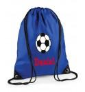 Football Any Name Drawstring Bag