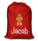 Gingerbread Man Any Name Printed Christmas Sack