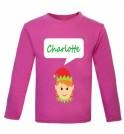 Christmas Girl Elf Any Name Childrens Printed T-Shirt