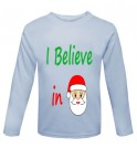 Christmas I Believe in Santa Childrens Printed T-Shirt