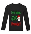 Christmas I've Been Good Santa Promise!! Childrens Printed T-Shirt