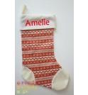 Fairisle Christmas Stocking