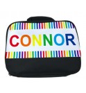Rainbow Stripes Any Name Lunch Bag