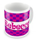 Choose Patterned Background + Name Mug