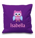 Owl Any Name Embroidered Cushion