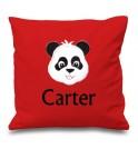 Panda Any Name Embroidered Cushion
