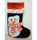 Black Penguin Christmas Stocking