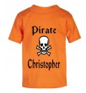 Pirate / Skull Any Name Childrens Printed T-Shirt