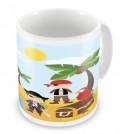 Pirates + Name Mug