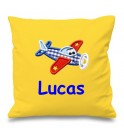 Aeroplane Any Name Embroidered Cushion