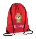 Puppy Dog Any Name Drawstring Bag