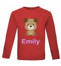 Puppy Dog Any Name Childrens Printed T-Shirt