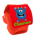 Blue Monster Any Name Toddler Backpack