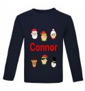 Christmas Santa's Buddies Any Name Childrens Printed T-Shirt