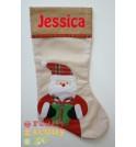 Tartan Santa Christmas Stocking