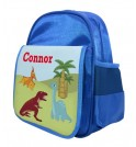 Dinosaurs Any Name Childs Backpack