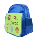 Jungle Animals Any Name Childs Backpack