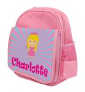 Princess Any Name Childs Backpack