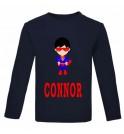 Super Boy Any Name Childrens Printed T-Shirt