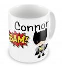 Super Heroes + Name Mug