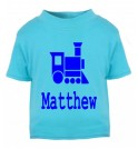 Train Silhouette Any Name Childrens Printed T-Shirt