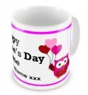 Valentines Day Love Owls Any Text Mug